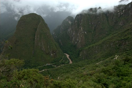 Steep Valley Walls of the Urubamba River