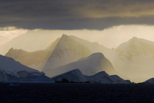 Morning Light Along the Lemaire Channel, Antarctica