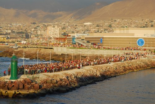 Residents of Antofagasta, Chile Saying Adios to the MS Prinsendam