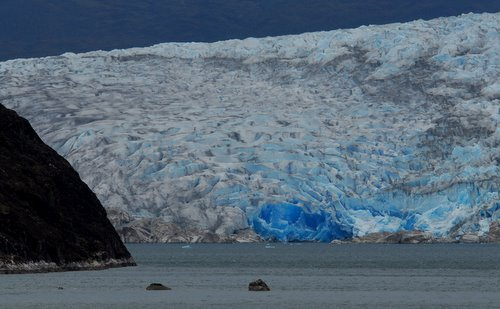 Glacier on the southern coast of Chile