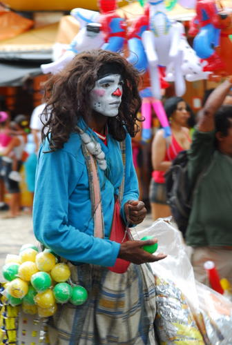 Clown at Work During Carnaval, Salvador, Brazil