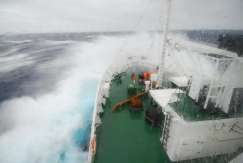 Raging Seas Crossing the Drake Passage En Route to Antarctica