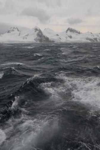 Rough Seas in the South Shetland Islands, Antarctica
