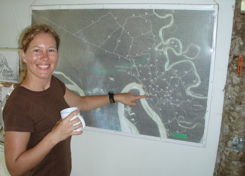 Krista Adamek, at the Los Amigos Research Station, Peru